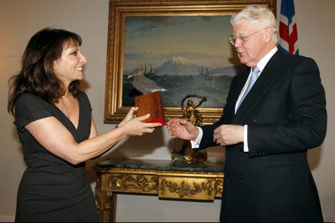 Danish director Susanne Bier receives RIFF's Creative Excellence Award from Iceland's president Olafur Ragnar Grimsson
